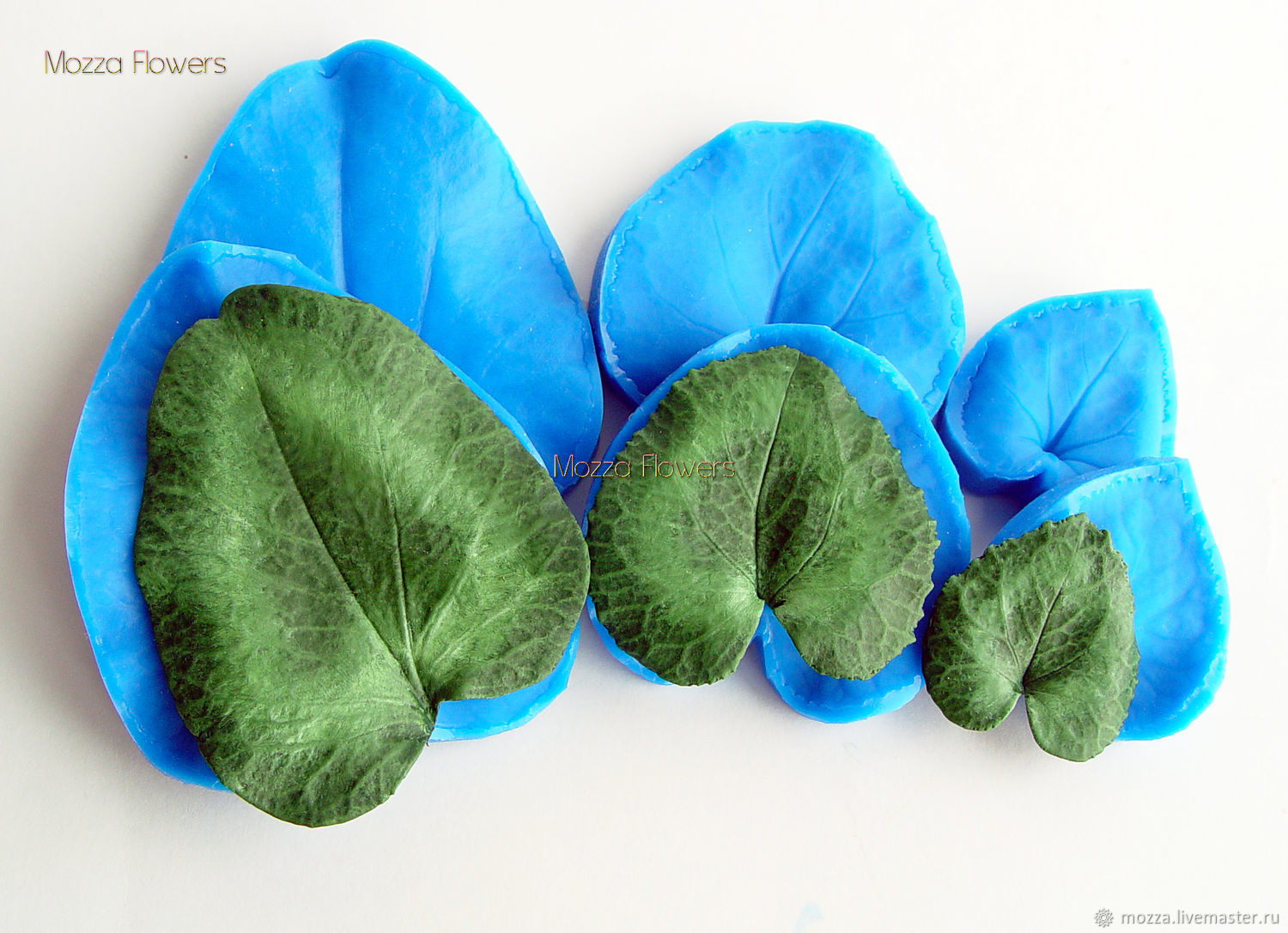 'The cyclamen leaf' silicone mold , Molds for making flowers, Zarechny,  Фото №1