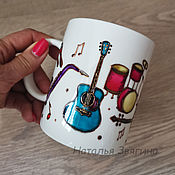 Посуда handmade. Livemaster - original item Tea Mug Music. Hand painted. Gift.. Handmade.