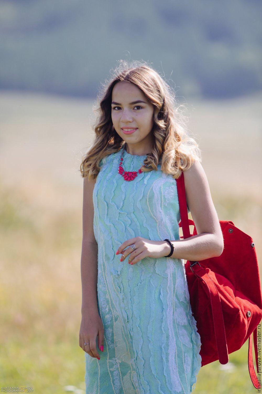 Felted dress 'Mint', Dresses, Verhneuralsk,  Фото №1