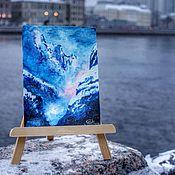 """Картины ручной работы. Ярмарка Мастеров - ручная работа Картина """"Туманное утро в горах"""" (авторская). Handmade."""