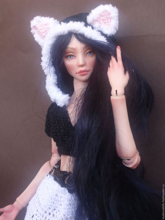 Коллекционные куклы ручной работы. Ярмарка Мастеров - ручная работа. Купить Авторская шарнирная кукла. Handmade. Бежевый, flumo