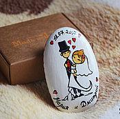 """Свадебный салон ручной работы. Ярмарка Мастеров - ручная работа """"Танец молодых"""" камешек-магнит. Handmade."""