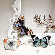 Украшения handmade. Livemaster - original item Butterfly brooches Vintage Jewelry Resin Brooch Boho Lace Soft. Handmade.