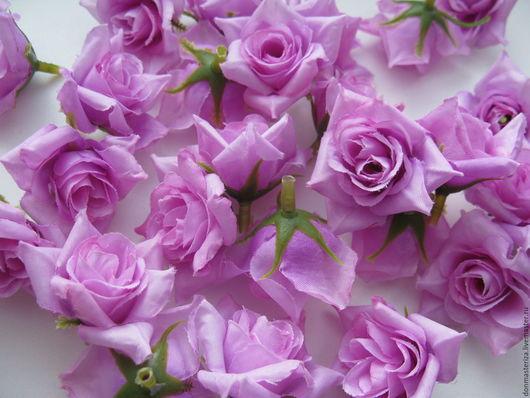 Материалы для флористики ручной работы. Ярмарка Мастеров - ручная работа. Купить головки светло-сиреневых роз. Handmade. Сиреневый