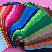 Материалы для творчества ручной работы. Ярмарка Мастеров - ручная работа Фетр мягкий полушерстяной (Испания) палитра 25 цветов. Handmade.