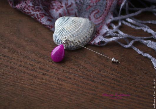 """Броши ручной работы. Ярмарка Мастеров - ручная работа. Купить """"Magenta"""" брошь-булавка. Handmade. Пурпурный цвет, яркая брошь"""