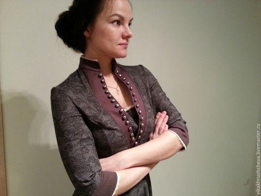 Платья ручной работы. Ярмарка Мастеров - ручная работа. Купить Историческое платье из хлопка. Handmade. Орнамент, сшить на заказ