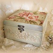 Для дома и интерьера ручной работы. Ярмарка Мастеров - ручная работа шкатулка Розовые цветы. Handmade.