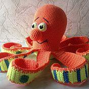 Мягкие игрушки ручной работы. Ярмарка Мастеров - ручная работа Осьминог вязаный. Handmade.