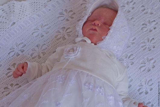 Для новорожденных,Ярмарка Мастеров, ручная работа купить,Платье для девочки. Комплект на выписку купить