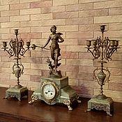 Винтаж ручной работы. Ярмарка Мастеров - ручная работа СКИДКА!!! 19 ВЕК!!! Великолепные антикварные часы с канделябрами!!!. Handmade.
