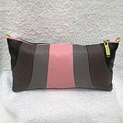 Сумки и аксессуары handmade. Livemaster - original item Beautician Dawn leather clutch,black clutch bag,clutch pink,gray. Handmade.