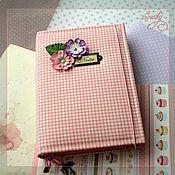 "Канцелярские товары handmade. Livemaster - original item Блокнот ""Розовая  клетка виши"". Handmade."