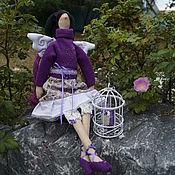 Куклы и игрушки ручной работы. Ярмарка Мастеров - ручная работа феечка Фиалка. Handmade.