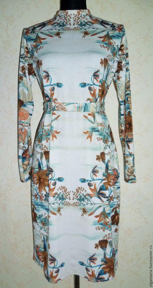"""Платья ручной работы. Ярмарка Мастеров - ручная работа. Купить Трикотажное платье """"Осень"""". Handmade. Комбинированный, трикотажное полотно"""