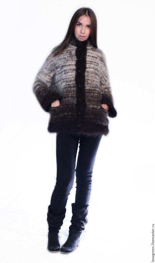 """Верхняя одежда ручной работы. Ярмарка Мастеров - ручная работа. Купить Жакет из собачьей шерсти """"Яшма"""". Handmade. Жакет"""