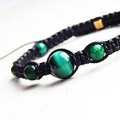 Украшения handmade. Livemaster - original item Bracelet - talisman for Taurus genuine malachite. Handmade.