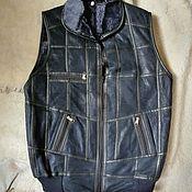 Мужская одежда handmade. Livemaster - original item Men`s sheepskin vest 46-48. Handmade.
