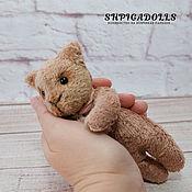 Куклы и игрушки handmade. Livemaster - original item Teddy kotofey crumb bag pillow pocket ivory. Handmade.