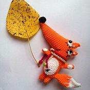 Куклы и игрушки handmade. Livemaster - original item Autumn Fox.Knitted toy.. Handmade.