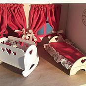 Куклы и игрушки handmade. Livemaster - original item Baby cot for dolls 1:8: BJD, Pukifee,  Lati yellow. Handmade.