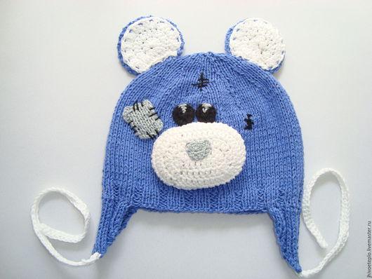 Шапки и шарфы ручной работы. Ярмарка Мастеров - ручная работа. Купить Шапочка малышу Мишка Тедди. Handmade. Мишка