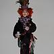 Коллекционные куклы ручной работы. Безумный шляпник.. Оксана Астахова. Ярмарка Мастеров. Безумный шляпник, папье-маше, волокна льна