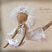 """Куклы и игрушки ручной работы. Ярмарка Мастеров - ручная работа """"Ангел с голубкой"""" - авторская кофейная куколка. Handmade."""