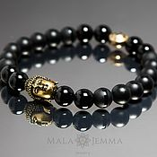 Украшения handmade. Livemaster - original item Stylish black Onyx bracelet with Buddha. Handmade.