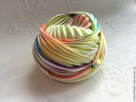 Для украшений ручной работы. Ярмарка Мастеров - ручная работа. Купить №53 Семицветик Ленты Шибори Silk Ribbons Shibori. Handmade.