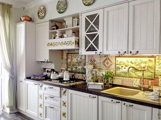 """Декор поверхностей ручной работы. Ярмарка Мастеров - ручная работа. Купить Фартук для кухни """"Пэчворк"""". Handmade. Фартук для кухни, пэчворк"""