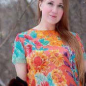 Одежда ручной работы. Ярмарка Мастеров - ручная работа Краски лета Шелковая блуза. Handmade.