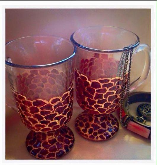 Кружки и чашки ручной работы. Ярмарка Мастеров - ручная работа. Купить Чашки для глинтвейна.Пара для пары).В упаковке.. Handmade.
