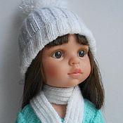 Куклы и игрушки ручной работы. Ярмарка Мастеров - ручная работа комплект шапка+шарф для Паола Рейна. Handmade.