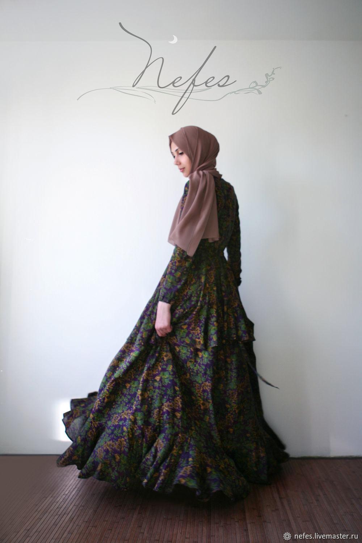 """Платья ручной работы. Ярмарка Мастеров - ручная работа. Купить Платье """"Хафза"""". Handmade. Платье, длинная юбка, летящая юбка"""