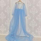Одежда ручной работы. Ярмарка Мастеров - ручная работа Будуарное платье (пеньюар). Handmade.