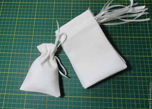 Упаковка ручной работы. Ярмарка Мастеров - ручная работа. Купить Мешочки льняные. Handmade. Белый, мешочек для хранения, мешочек для трав