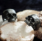 Украшения handmade. Livemaster - original item Sterling Silver Skull Ring All Sizes US 7 - 15. Handmade.