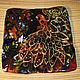 Блюдо `Жар-птица` из литого стекла ручной работы