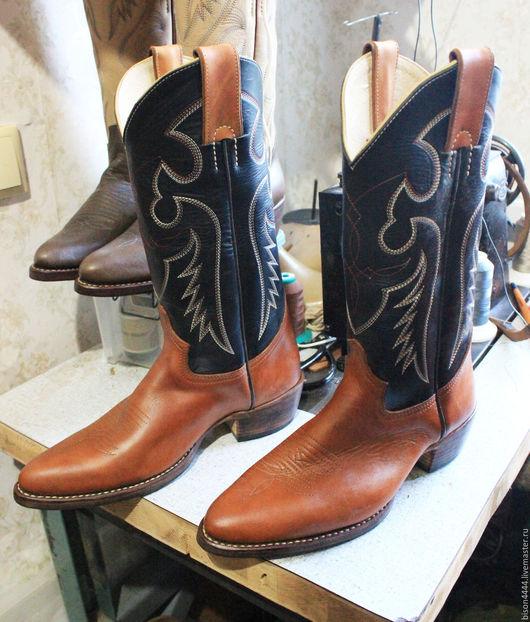 Обувь ручной работы. Ярмарка Мастеров - ручная работа. Купить Ковбойские сапоги.. Handmade. Комбинированный, ковбойский стиль, вестерн