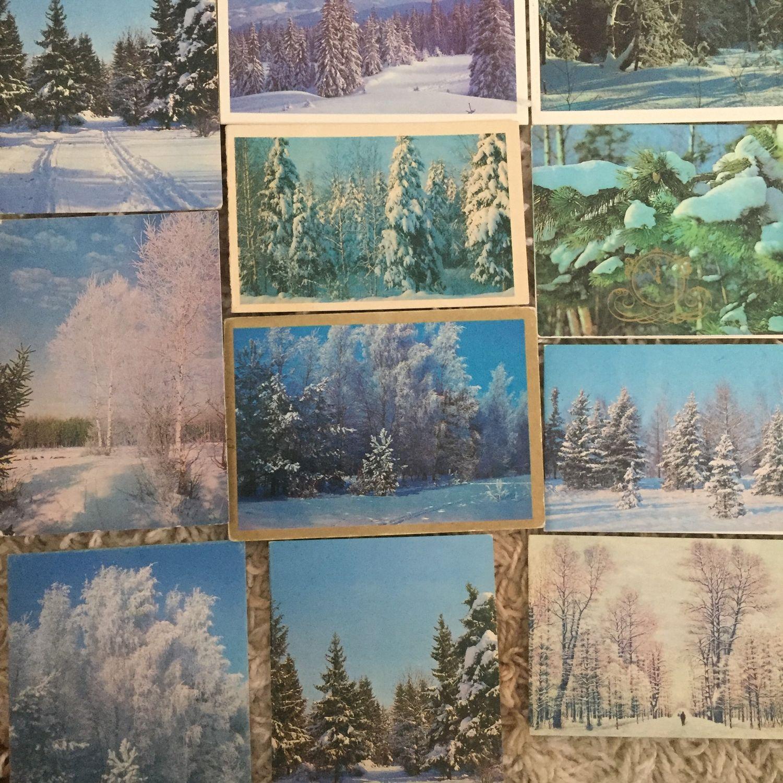 Открытки ссср с природой, открытка днем