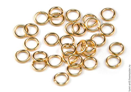 Для украшений ручной работы. Ярмарка Мастеров - ручная работа. Купить 5 мм Соединительные колечки золотые 10 шт. Handmade.