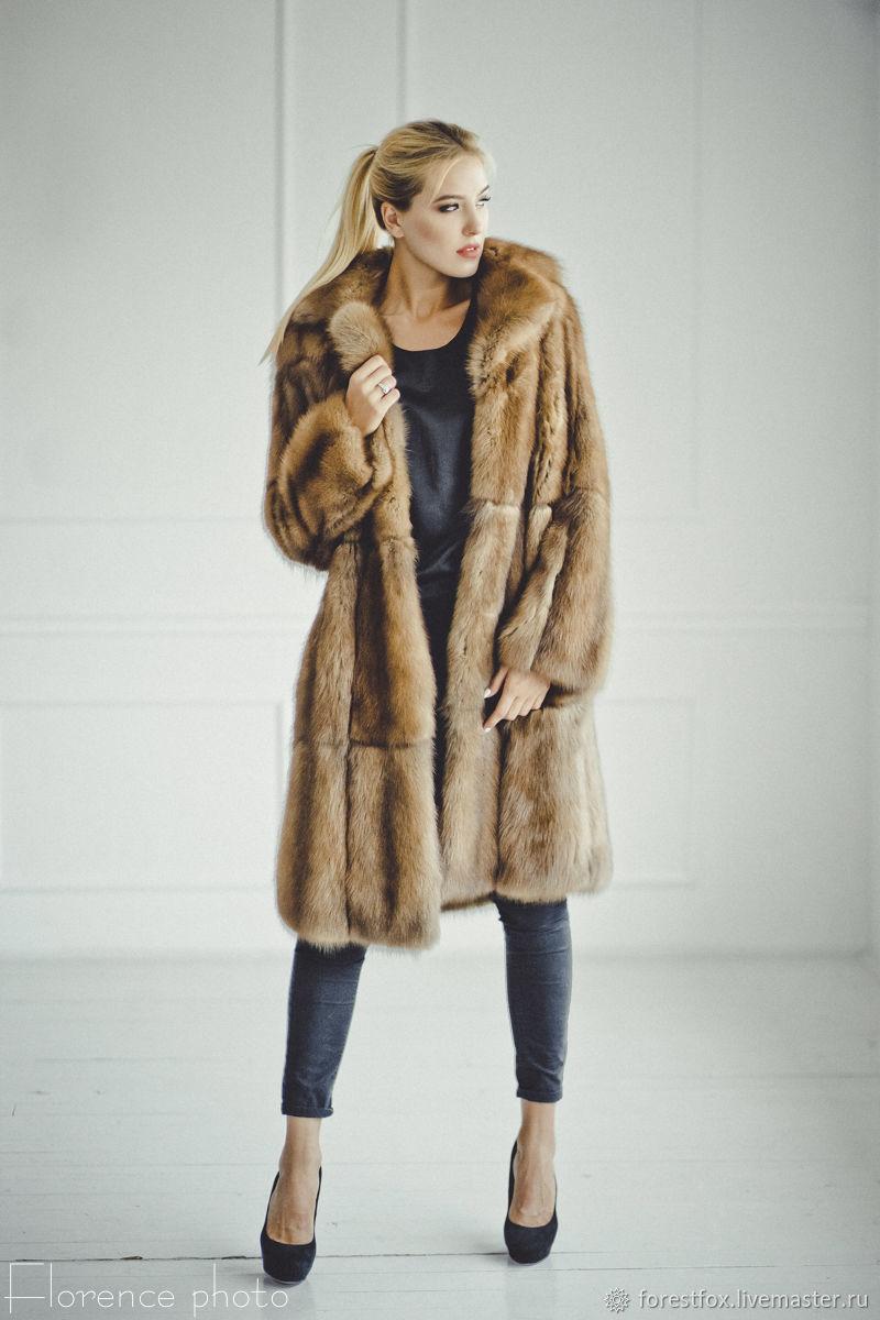 Marten fur coat in red, Fur Coats, Moscow,  Фото №1