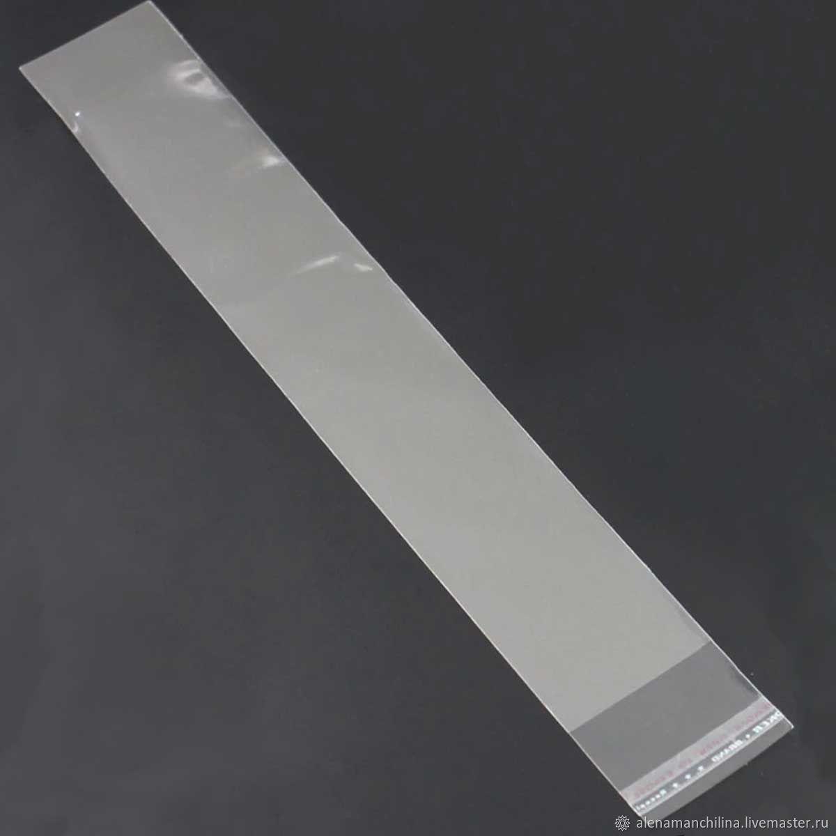 Пакеты 6х40+4 см. БОПП 100 штук прозрачные со скотчем, Пакеты, Вольск,  Фото №1