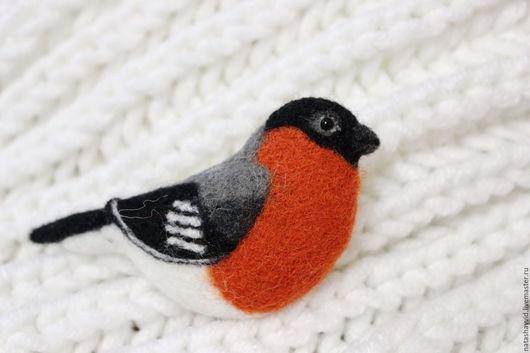 Игрушки животные, ручной работы. Ярмарка Мастеров - ручная работа. Купить Снегирь. Handmade. Рыжий, птица, сувенир, глазки
