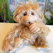 Куклы и игрушки ручной работы. Ярмарка Мастеров - ручная работа РАДА  обзьянка из шерсти. Handmade.