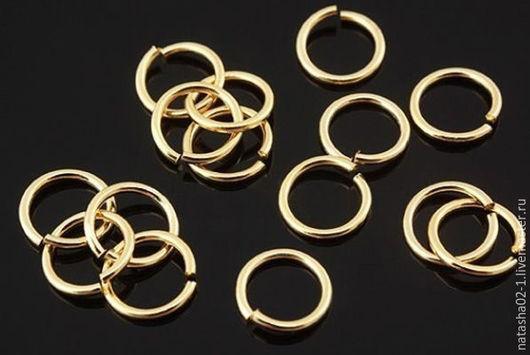 Для украшений ручной работы. Ярмарка Мастеров - ручная работа. Купить 8 мм - Колечки соединительные Gold Plated Южная Корея. Handmade.