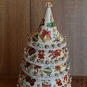 Подарки к праздникам ручной работы. Ярмарка Мастеров - ручная работа Музыкальная елочка большая 31 см. Handmade.