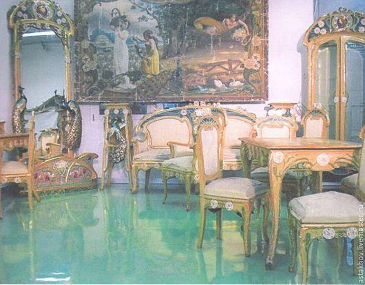 Мебель ручной работы. Ярмарка Мастеров - ручная работа. Купить комплект мебели Арт-Нуво (Муха А.). Handmade.