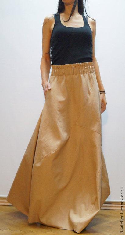 Золотая юбка в пол
